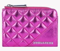 Mini Metallic Leather Wallet
