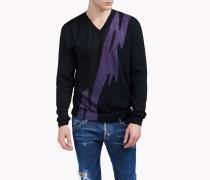 Printed Wool-Blend Sweater