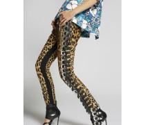 Leopard Biker Pants