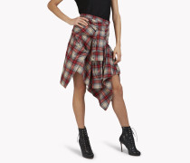 Check Flannel Wrap Skirt
