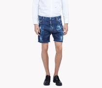 Square Crotch Denim Shorts