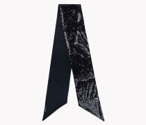 Sequined Satin Scarf
