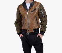Leather Cargo Jacket
