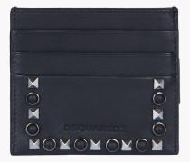 Stud Leather Credit Card Holder