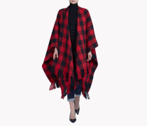 Canadian Check Poncho