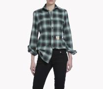 Check Wired-Neck Hemd