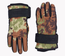 Camouflage Technical Ski Gloves