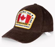 Corduroy Canada Patch Baseball Cap