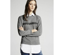 Wool Contrast Fabrics Pullover