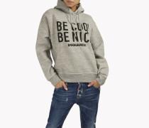 Be Cool Be Nice Hooded Sweatshirt