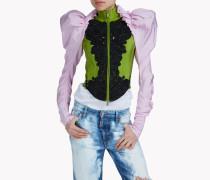 Tresor Embroidered Bustier Jacket