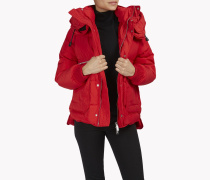 Puffer Hood Quilted Down Jacket