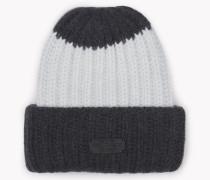 Contrast Knit Beanie