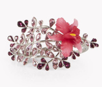 Flower Crystal Embellished Cuff