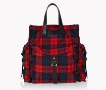 Check Military Chic Tote