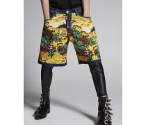 Hawaiiana Boxer Denim Shorts