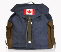 Military Denim Mix Backpack