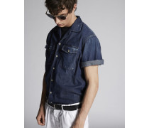 Box In Short Sleeves Denim Hemd