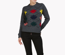 Maple Leaf Argyle Pullover