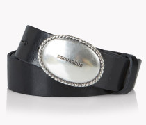 Leather Caravan Buckle Belt