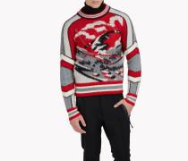 Intarsia Ski Wool Pullover