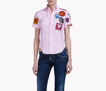 Patch Button Down T-Shirt