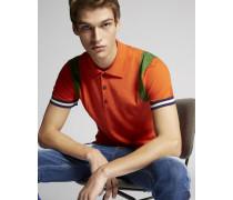 Stripes Wool Knit Polo Hemd