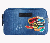 Denim Patch Toiletry Bag