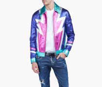 Multicolored Metallic Leather Jacket