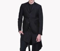 Straight Silk Wool Blend Blazer