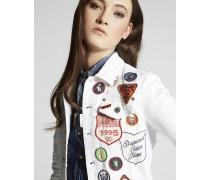 Bull Garment Dyed Patches Denim Jean Jacket
