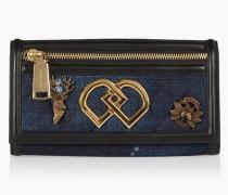 Denim Embellished DD Wallet