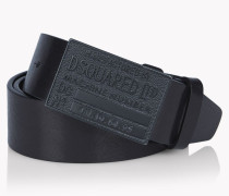 D2 Metal Buckle Leather Belt