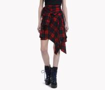 Check Cotton Wrap Skirt
