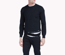 Zipped Crew Neck Pullover