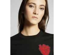 Heart Patch Wool Pullover