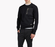 Chest Pocket Wool Knit Pullover