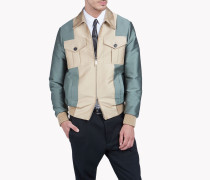 Contrasted Bomber Jacket