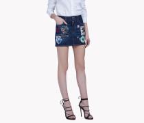 Patch Denim Skirt