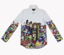 D2 Manga Button-Down Hemd