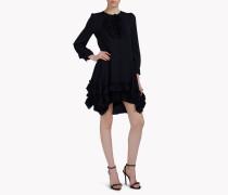 Silk-Georgette Carmen Dress