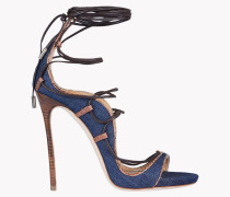 Denim Lace-Up Riri Sandals