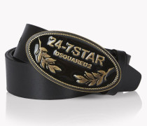 Leather 24-7 Star Buckle Belt