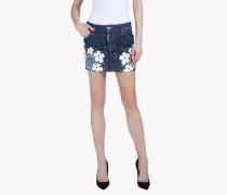 Tokyo Flower Mini Denim Skirt