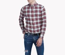 Check Cotton Blend Hemd