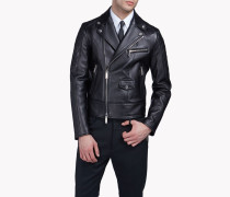 Quilted Aviator Leather Jacket