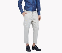 Cropped Cotton Chinos