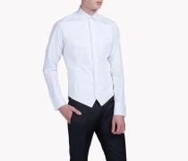 Spread Collar Poplin Tux Hemd