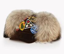 Fur Corduroy Trapper Cap