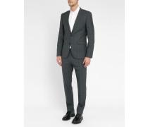 Grauer Slim Fit-Anzug Pr Aret Prinz von Wales